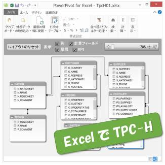 Excel で TPC-H