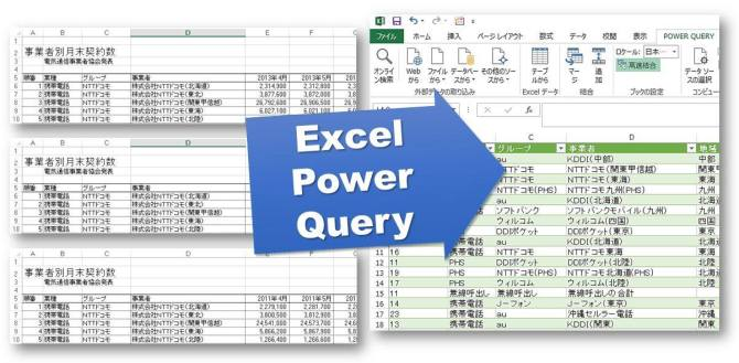 Excel Power Query .. が 集計済み Excel ファイル 15 個をまとめる