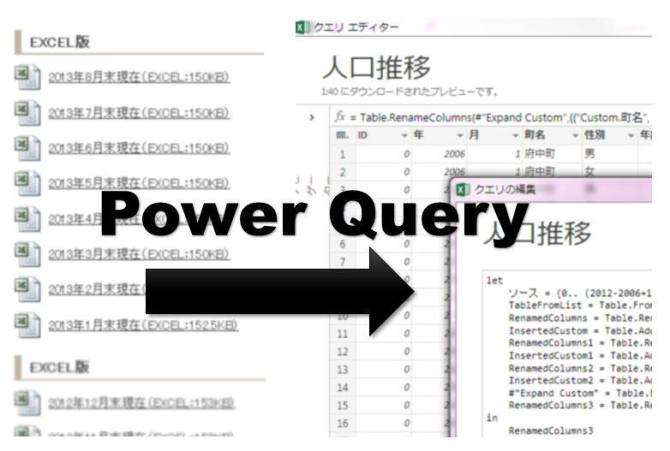 Excel Power Query .. で、Excel .xls 104 ファイルをひとつのファイルにする.